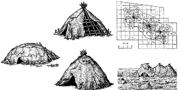 Reconstructions of Ukrainian shelters depict a low domical