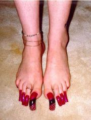 ideas acrylic toes