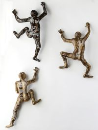 Climbing Figure - metal wall art - Unique gift - wire mesh ...