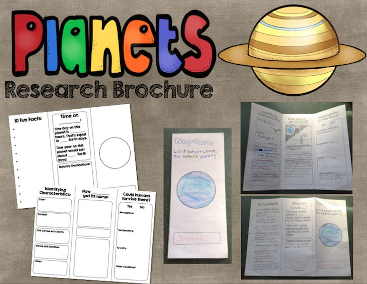 Planet Research Brochure Informational Writing And
