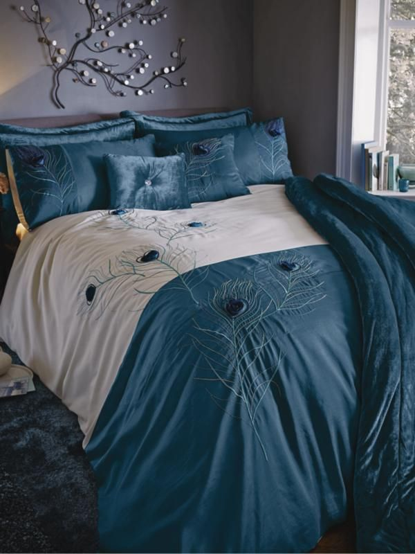 Peacock Duvet Cover And Pillowcase Set on shopstylecouk