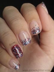 4th of july nails love