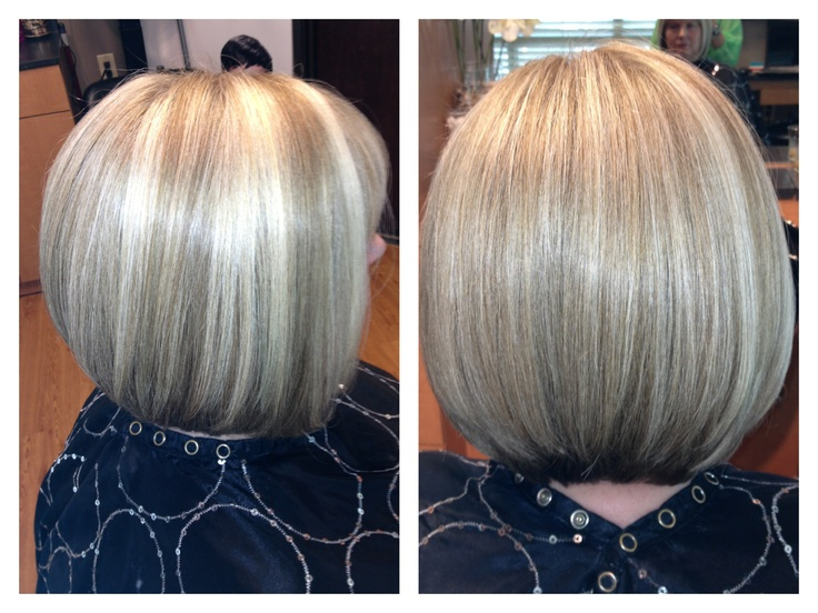 Blonde angled bob with highlights and lowlights  Hair by Melissa Lobaito  Pinterest  Blonde