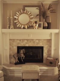 stone tiled fireplace To redo fireplace downstairs ...