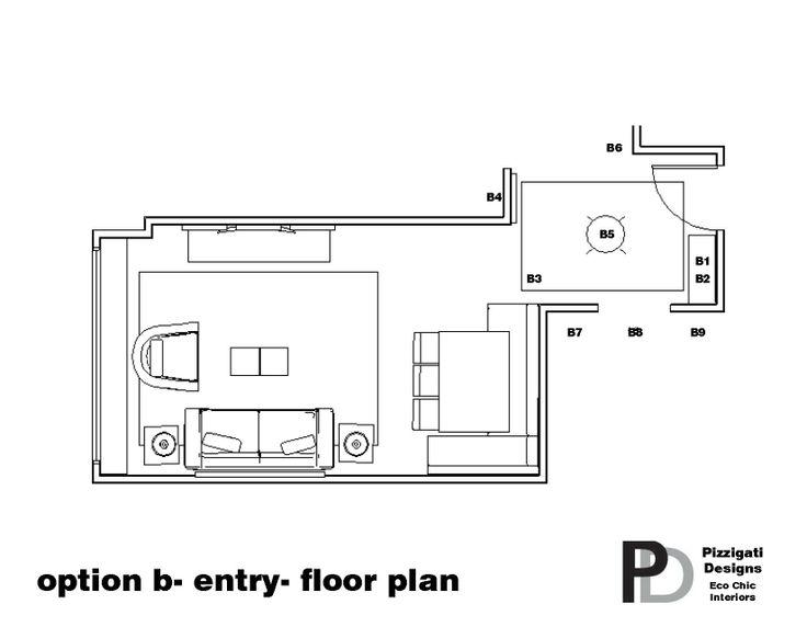 Eco Friendly Interior Design- Option B- Entry Floor Plan