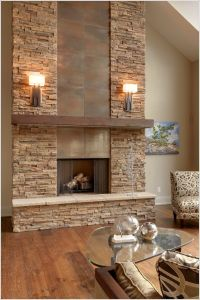 Stacked Stone Fireplace Surround - WoodWorking Projects ...