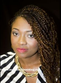 Human hair twist . So natural looking . #nonyehairbraiding