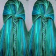 mermaid hair color & style beautiful