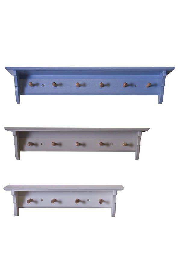 Classic Peg Rail Shelves Top Mid Blue Middle Blue