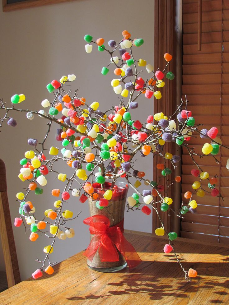 Gum Drop Tree Made With Thorn Bush Gum Drops And