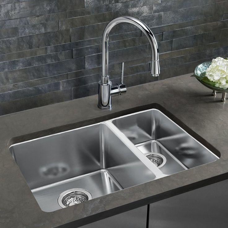 BLANCO SOP1355 Andano Offset Bowls Undermount Kitchen Sink