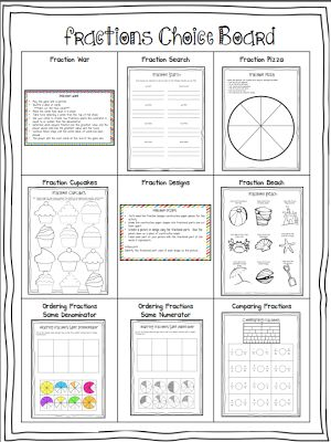 17 Best images about Choice Boards/Menus on Pinterest