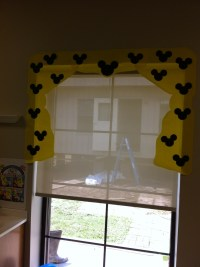 Mickey mouse window covering | Disney classroom | Pinterest