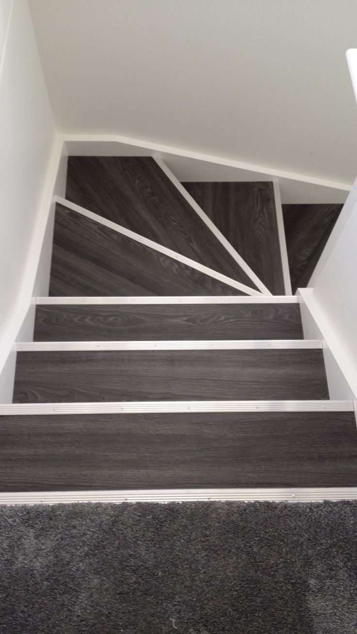 Allure Locking Gen3  Aspen Oak Black with Silver Fluted Stair Nosing  FLOOR  Pinterest