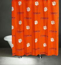 NCAA Clemson Tigers Shower Curtain Bathroom Decoration
