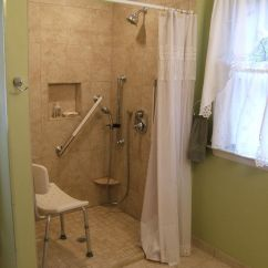 Chairs For Handicapped Game Chair Best Buy Tile Shower- Very Small Step To Over (walk In Showers Were The Norm Netherlands ...