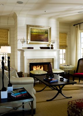 Ship lap above the fireplace  Fireplaces  Pinterest  On the side Fireplaces and Furniture