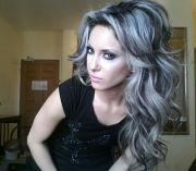 platinum highlights dark hair#