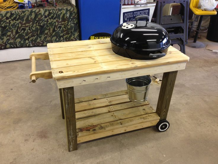 Weber Grill Cart Made From Recycled Pallets Things To