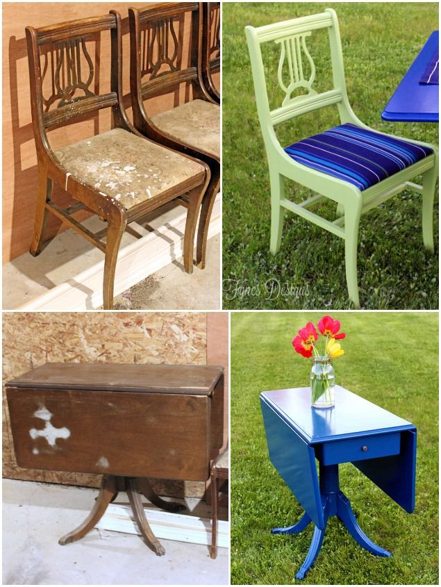 use exterior paint and outdoor fabric to make indoor furniture into patio furniture good idea
