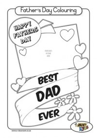 FREE Printable Father's Day Coloring Pages, Activities