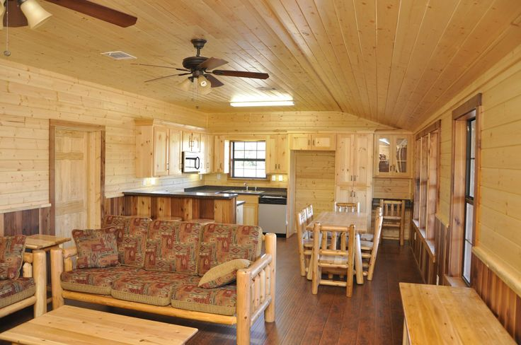 Interior shot of the Double Wide Log Cabin www