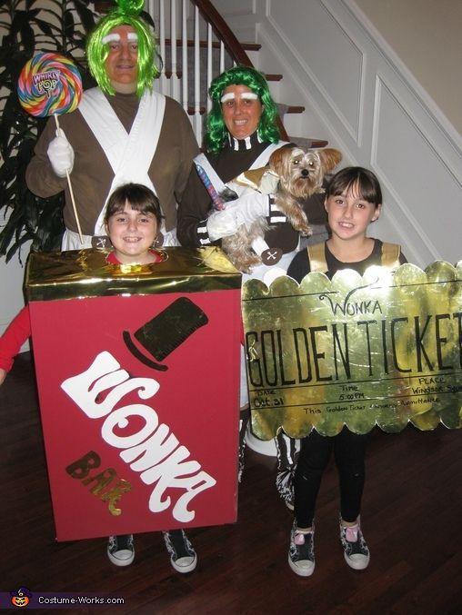 Willy Wonka Family Costume  Willy wonka Chocolate