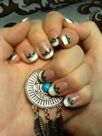 American nails, Nail art designs and Native american on ...