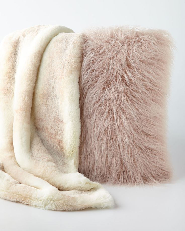 FauxFur Throw  Pillow  Coveting  Pinterest