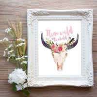 Run Wild My Child Printable Wall Art, Boho Chic Nursery ...