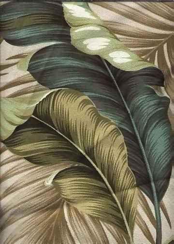 Hawaiian Print Fabric Upholstery