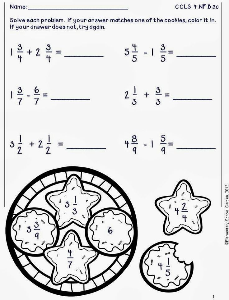 Free adding & subtracting fractions worksheets in the