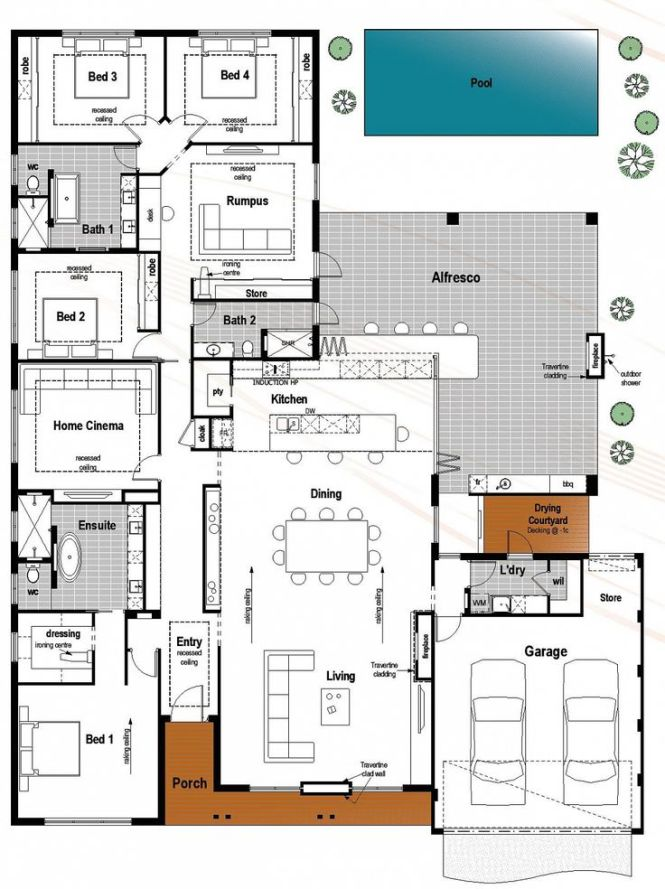 Floor Plan Friday 4 Bedroom 3 Bathroom With Modern Skillion Roof Katrina Chambers