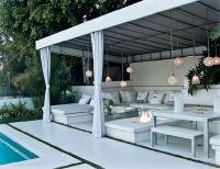 diy outdoor cabana | ... Beverly Hills  Cabana with ...