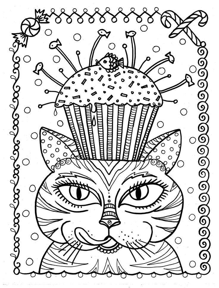 17 Best images about Cup cakes coloring pages on Pinterest