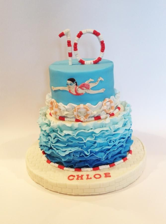 Swimming Themed Cake Cakes Amp Cake Decorating Daily