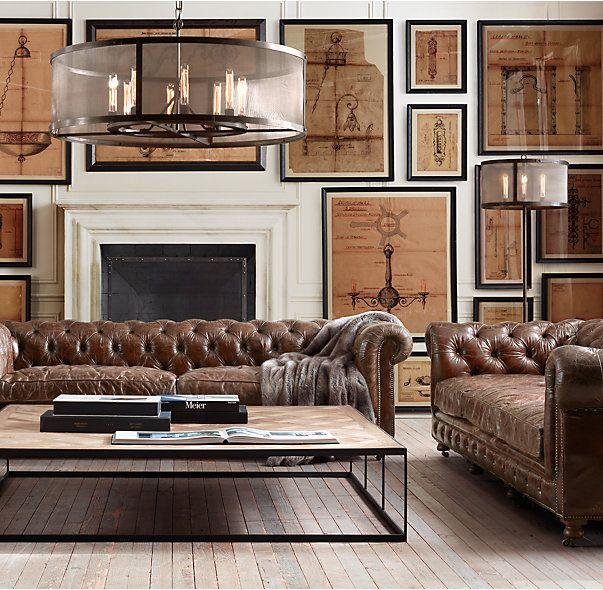 kensington leather sofa restoration hardware value city sectional 1000+ ideas about gentlemens club decor on pinterest ...