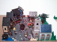Lego medieval church   Medieval market village diorama ...