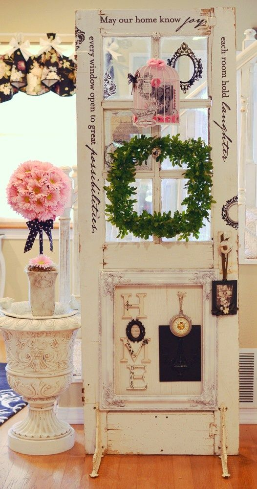 decorating with an old door