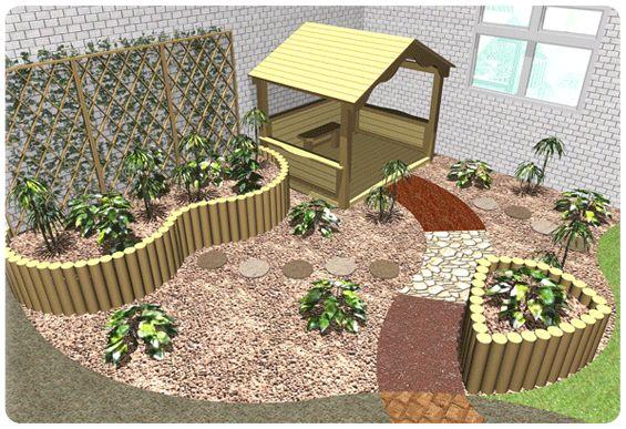 Nursery School Playground Corner Garden Kids Wooden Garden