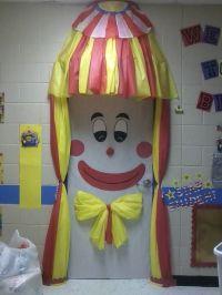 Clown Door | Clown Classroom Door Decoration | Pinterest ...
