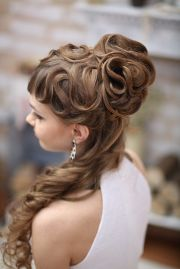 elegant curly hairstyle long