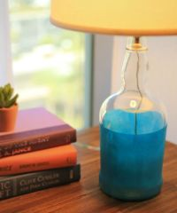 How to make a glass bottle lamp