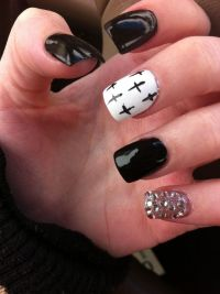 Cute Acrylic Nails With Crosses | www.imgkid.com - The ...