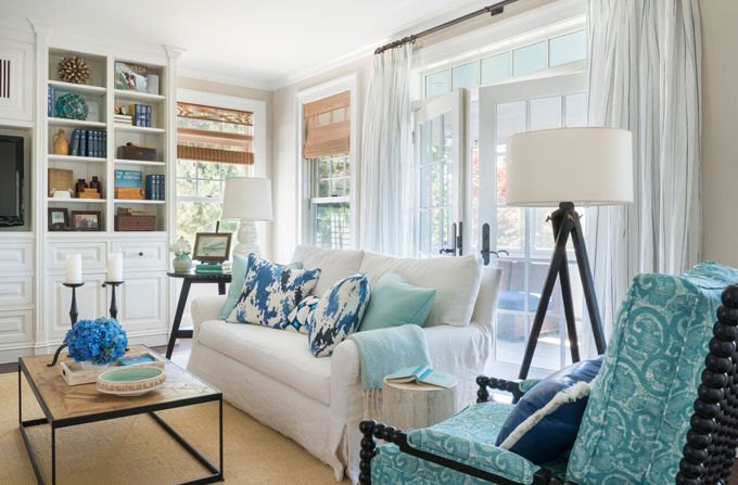 coastal family room  Kate Jackson Design  Lovely Living