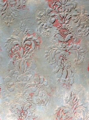 Plaster Finish and Annie Sloan …..  Provence Stenciled Plaster Finish with the