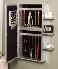 Southern Enterprises Darlington Wall-Mount Jewelry Armoire ...