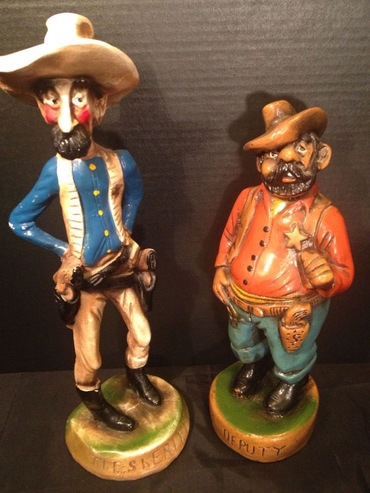 EB Orman E Borman 1947 Vintage Sheriff Deputy figurines
