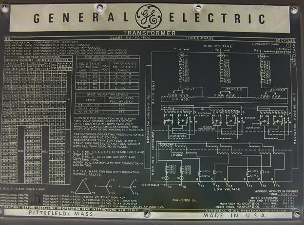General Electric Transformer Wiring Diagram