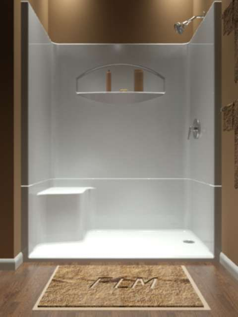 One piece shower The idea of a one piece shower insert will appeal to those who like bathroom
